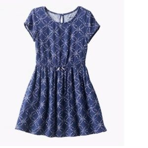 Sonoma Navy Circle Skater Dress Size 6X, 7